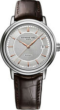 Raymond Weil Maestro Men's 2837-SL5-65001 Brown Leather Swiss Automatic watch