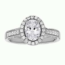 Oval Cut Cz Wedding Ring 925 Sterling Silver Engagement Ring