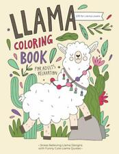 Llama Funny Comedy Quotes Cute Animals Adult Colouring Book Quirky Fun Nature