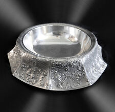 Barbour silver plate centerpiece with flared ornate design - FREE SHIPPING