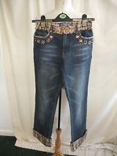 """Damen Jeans Miss f&2 Vogue S, Inside Leg 30"""", verziert & Kontrast Blenden 7774"""