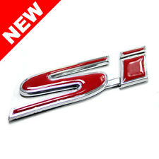 HONDA CIVIC SI TRUNK EMBLEM BADGE - RED W/ CHROME TRIM