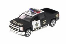 "New 5"" Chevy 2014 Chevrolet Silverado Police Truck Diecast Model 1:46 Kinsmart"