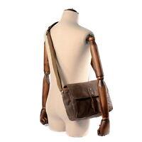 DSLR Camera Bag Oil wax canvas Leather Men Shoulder Bag