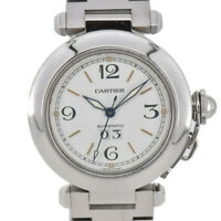 Auth CARTIER PashaC Big Date 2475 White Dial Automatic Unisex Watch L#93146