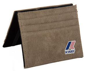Portatessere K-WAY articolo 4AKK3710 K-FOLD WALLET colore H3 TAUPE