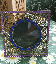 Metal frame Crystals Blue Purple Porta Fotografie Metallo Cristalli Blu Viola