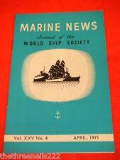 MARINE NEWS - APRIL 1971 VOL XXV # 4