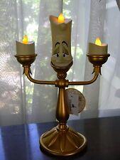 "Disney Parks Beauty & the Beast Lumiere Light Up Candlestick 10"" Figurine New"
