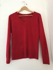 Ladies Jumper Tu Size 10 Red Long Sleeve <JJ2275