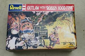 """Ed """"Big Daddy"""" Roth Outlaw With Robbin Hood Fink Revell Sealed Model Kit RARE"""