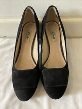 Clarks Narrative Womens Heeled Black Shoes UK 6 D / EUR 39.5