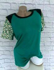 Sarah Kern festliches Shirt Blusenshirt Tunika Grün mit Pailletten Gr. 38  Neu