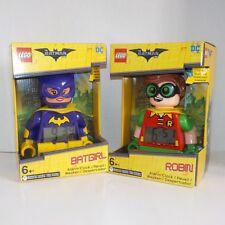 Lego The Batman Movie BATGIRL and ROBIN Alarm Clock NIB Fast Ship