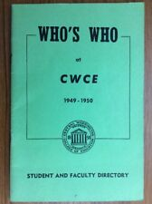 Scarce 1949 CWU Central Washington University ELLENSBURG Student & Faculty Direc