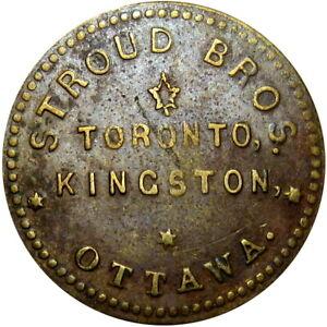 Ottawa Toronto Kingston Canada Good For Token Stroud Bros 1 Pound Tea Breton 786
