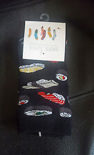 SUSHI socks Japanese Black Hipster food Size 3-7 UK 36-40 EUR Fashion Teppanyaki