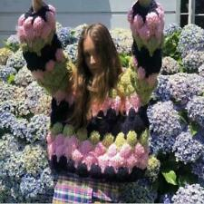 Womens Fashion Multicolor Pullover Loose Handmade Knitted Sweater Cardigan SUNS