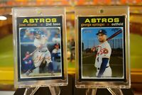 2020 Topps Heritage Red Auto Jose Altuve & George Springer Astros Red Auto Lot