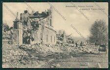L'Aquila Avezzano Terremoto PIEGHINA cartolina QQ3888