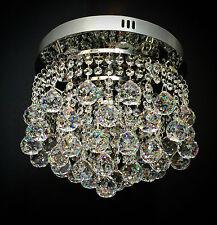 Crystal 40mm Ball Chandelier Flush Ceiling light Lamp Dimmable white LED ItPL30