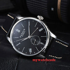 42mm Parnis black date 24 Hours Handset Seagull Automatic Movement Men Watch 952
