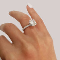 3.50Ct Round Cut Solitaire Diamond VVS1/D Engagement Ring 14K White Gold Finish
