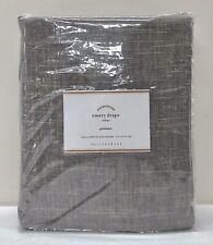 "NEW Pottery Barn Emery Linen Cotton GROMMET 50"" x 84"" COTTON LINED Drape~Gray"