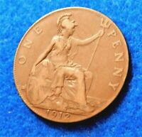 1912 Great Britain Penny - Xtremely Nice Coin - See PICS