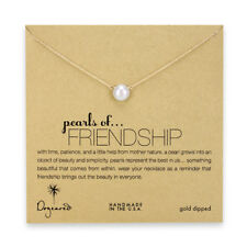 Dogeared Gold Dipped Pearls of Friendship Necklace with Large Pearl