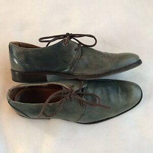 John Fluevog Mens Shoes Green Leather Sz 7