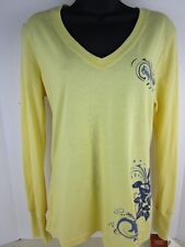 CARHARTT WK068 DYW WOMEN'S YELLOW LONG SLEEVED GRAPHIC T-SHIRT SIZE XS NEW