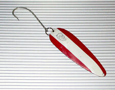 """4 1/2"""" EPPINGER TROLL DEVLE SPOON PIKE MUSKIE LAKE TROUT 1.5 OZ  RED WHITE"""