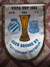 Pennant Club Brugge - Tottenham Hotspur / Spurs England 24.10.1984 UEFA Cup