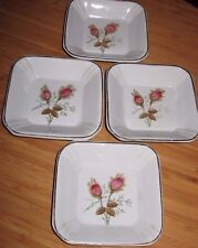 4 Antique Royal Ironstone China Alfred Meakin England Square Dessert Berry Bowls