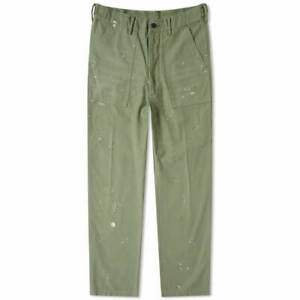 Polo Ralph Lauren Relaxed Fit Distressed Paint Splatter Army Utility Pants New