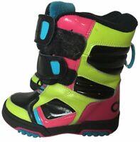 OSIRIS SZ 13 Black Pink Blue Neon Green THERMOLITE Boys Girls Winter Snow Boots