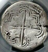 1598 POTOSI BOLIVIA COB 4 REALE PIRATES COIN SPANISH EMPIRE PHILIP II PCGS VG10