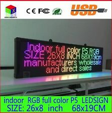 26X8 inch indoor full color LED display scrolling text sign aluminum billboard