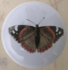 Ceramic Cabinet Knobs butterfly Insect brown