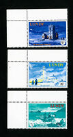 Lundy Great Britain Stamps VF OG NH Lighthouse Set of 3