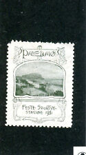 Vintage Poster Stamp Label 1906 PALERMO Italy FESTE SPORTIVE