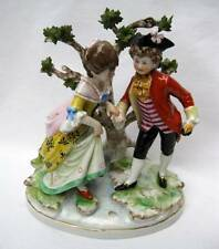 ANTIQUE SITZENDORF GERMAN PORCELAIN FIGURINE GROUP COURTING COUPLE BOCAGE