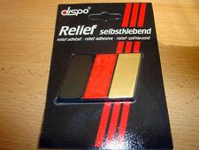 DEUTSCHLAND RELIEF / AUFKLEBER / STICKER - Streifen - Dezent / Edel