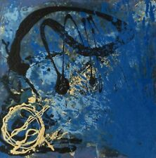 MODERN CONTEMPORARY ABSTRACT PAINTING BY GONIEL (22'' X 22'')