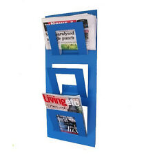 Designer Wall Mounted Magazine Rack Blue - by The Metal House
