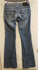 True Religion Juniors Size 24 Joey Twisted Flare Black Label Jeans Ins 31