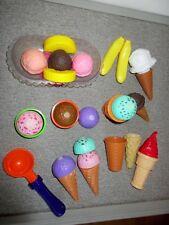 Play Foods-Ice Cream-Banana Split-Cones-Scoop-Bubbles--Lot C50