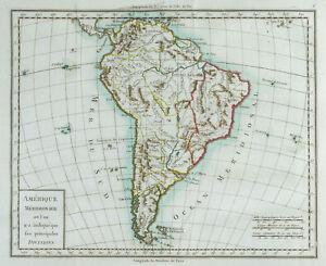 1785 - Carta Antica America Del Sud (Meridionale)/Mentelle/Antico Mappa