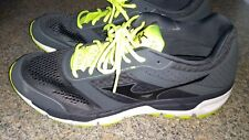 Mizuno Synchro Mx X10 Walk / Running Shoes, Gray / Neon Yellow, Size 14 worn 1X